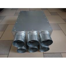 Oro paskirstymo (kolektorinė) dėžė su garso izoliacija (160, 125) 5x75, 6x75