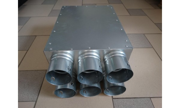 Oro paskirstymo (kolektorinė) dėžė su garso izoliacija (160, 125) 12x75