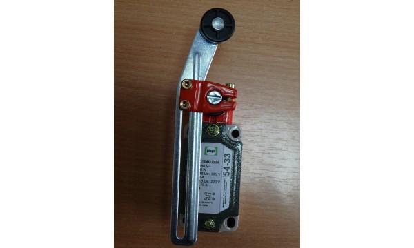 Galinės padėties išjungiklis FLS 15M 54 33 (alkūninė svirtis su aukščio reguliavimu ir mažu ratuku) IP54