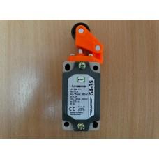 Galinės padėties išjungiklis FLS 15M 54 35 ( svirtis su mažu ratuku- paspaudimas iš viršaus) IP54