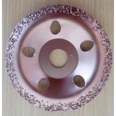 Diskas šlifavimui su kietlydiniu d 115x22 vidutinio rupumo lenktas