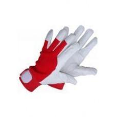 Darbo pirštinės odinės, lipduku užsegamas rankogalis FLEXY