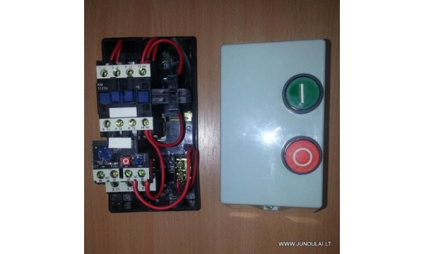 Magnetinis paleidiklis dėžutėje su mygtukais 220V 25A