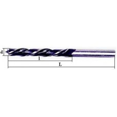 Ilgas spiralinis  grąžtas medienai:  Ø-3,0 mm; bendras ilgis L-300 mm; darbinis ilgis l-170 mm.