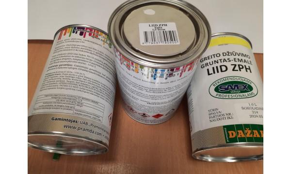 Gruntas-emalė greito džiūvimo LIID ZPH 1 litras pilka