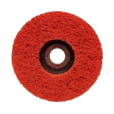 Diskas nerūdijančiam plienui šlifuoti 125x22 korėtas keramikinis (oranžinis).
