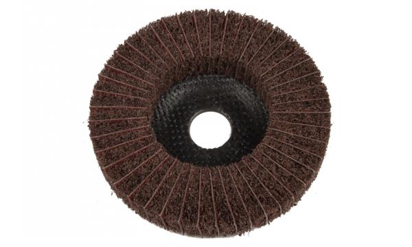 Diskas nerūdijančiam plienui šlifuoti 125x22  (veltinis su šlifavimo audiniu)